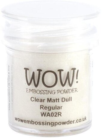 Clear Matte Dull WOW! Embossing Powder 15ml
