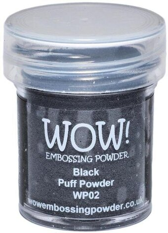 Black Puff WOW! Embossing Powder 15ml