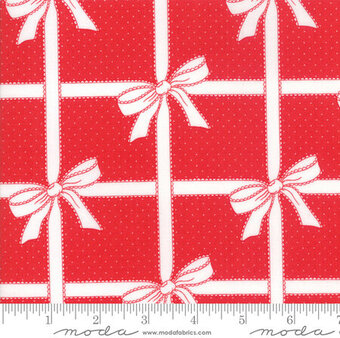 Bonnie Camille Vintage Holiday Wrapped Red - Yardage