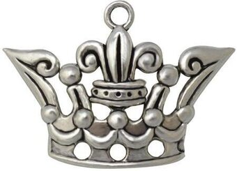 Crown Silver Embellishments 15/Pkg