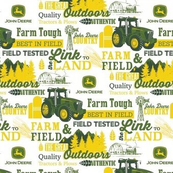 John Deere The Great Outdoors 100% Cotton Fat Quarter