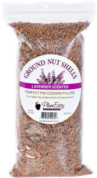 12oz Ground Walnut Shells For Pin Cushions, Lavender Scented