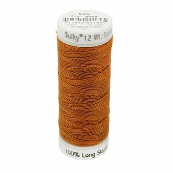 Cinnamon - Sulky 12wt Cotton Petites Thread 50 yds