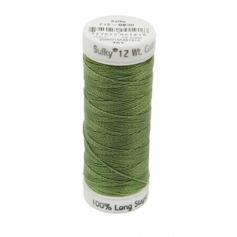 Moss Green - Sulky 12wt Cotton Petites Thread 50 yds
