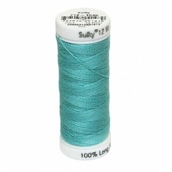 Light Teal - Sulky 12wt Cotton Petites Thread 50 yds