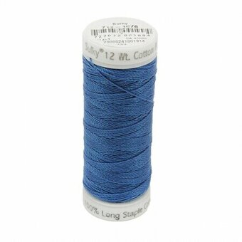 Royal Blue - Sulky 12wt Cotton Petites Thread 50 yds