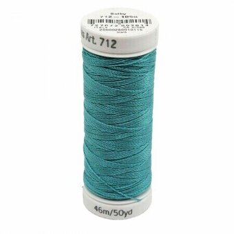 Turquoise - Sulky 12wt Cotton Petites Thread 50 yds