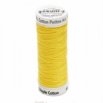 Sun Yellow - Sulky 12wt Cotton Petites Thread 50 yds