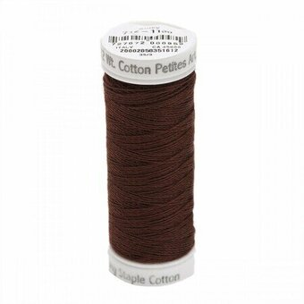 Dark Brown - Sulky 12wt Cotton Petites Thread 50 yds
