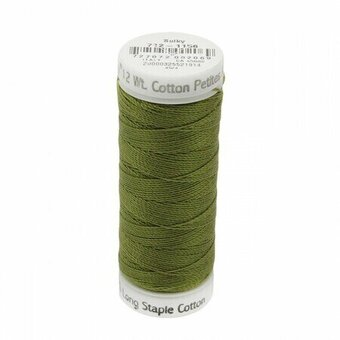 Light Army Green - Sulky 12wt Cotton Petites Thread 50 yds