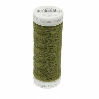 Medium Army Green - Sulky 12wt Cotton Petites Thread 50 yds