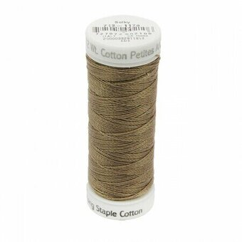 Dark Taupe - Sulky 12wt Cotton Petites Thread 50 yds