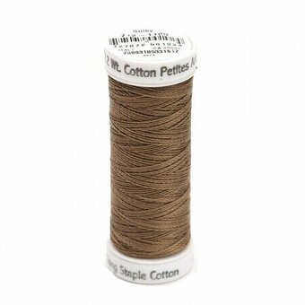 Medium Taupe - Sulky 12wt Cotton Petites Thread 50 yds