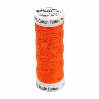 Orange Red - Sulky 12wt Cotton Petites Thread 50 yds