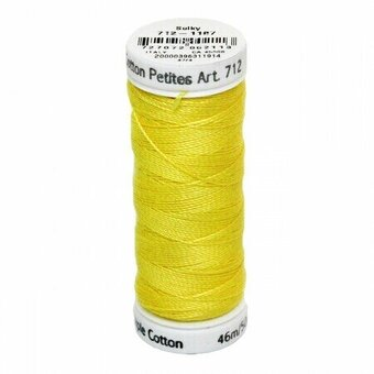 Mimosa Yellow - Sulky 12wt Cotton Petites Thread 50 yds