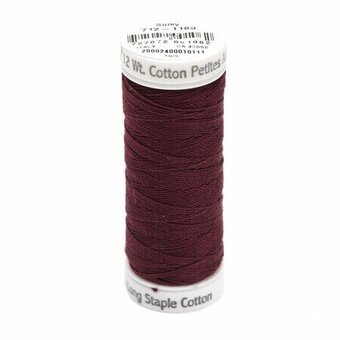 Dark Chestnut - Sulky 12wt Cotton Petites Thread 50 yds