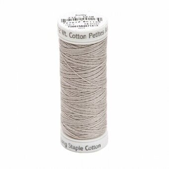 Silver Grey - Sulky 12wt Cotton Petites Thread 50 yds