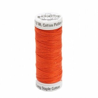 Orange Flame - Sulky 12wt Cotton Petites Thread 50 yds