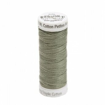 Dark Grey Khaki - Sulky 12wt Cotton Petites Thread 50 yds