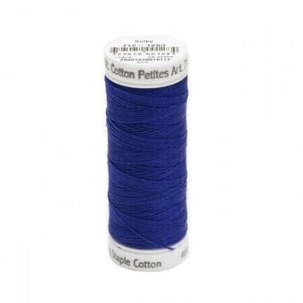 Deep Nassau Blue - Sulky 12wt Cotton Petites Thread 50 yds