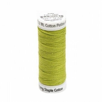 Deep Chartreuse - Sulky 12wt Cotton Petites Thread 50 yds