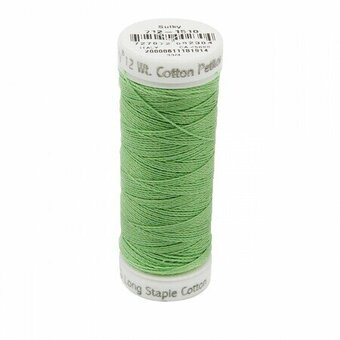 Lime Green - Sulky 12wt Cotton Petites Thread 50 yds