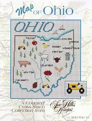 Ohio Map - Cross Stitch Pattern