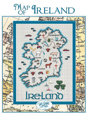 Ireland Map - Cross Stitch Pattern