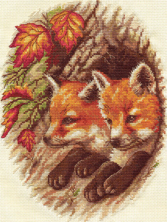 Fox Cubs - Cross Stitch Kit