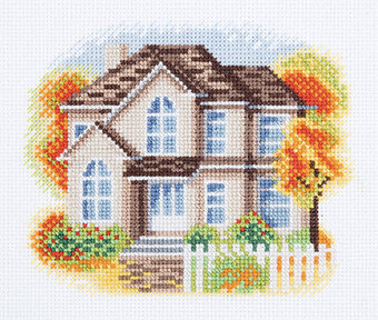 House on Autumn Lane - Cross Stitch Kit