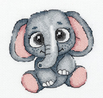 Lola the Elephant - Cross Stitch Kit