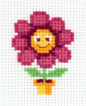 Red Flower - Cross Stitch Kit