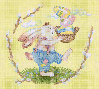 Easter Basket - Cross Stitch Kit