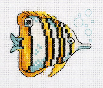 Copperband Butterflyfish - Cross Stitch Kit