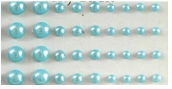 Blue Bling Self-Adhesive Pearls Multi-Size 100/Pkg