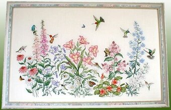 Crossed Wing Collection Flower Power Cross Stitch Pattern Beauteous Cross Stitch Flower Patterns