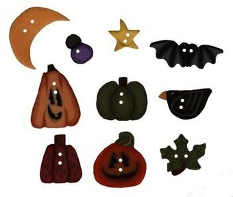 Buttons for Scatter Pumpkins