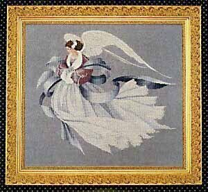Lavender And Lace Angel Of Winter Cross Stitch Pattern