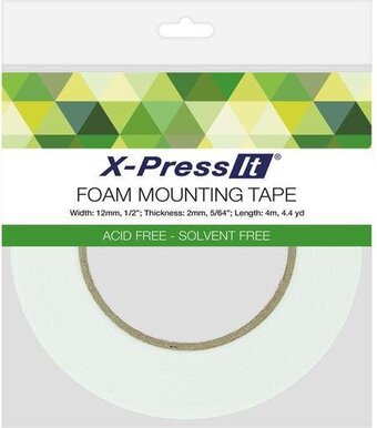 ".5""X4.4yd X-Press It Double-Sided Foam Tape 12mm"