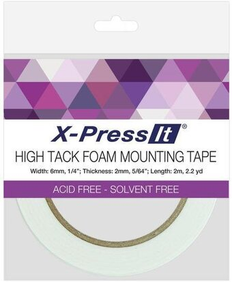 ".25""X2.2yd X-Press It High Tack Foam Mounting Tape"