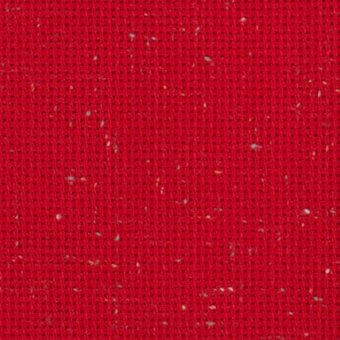 10 Count Christmas Red Heatherfield Fabric 36x52