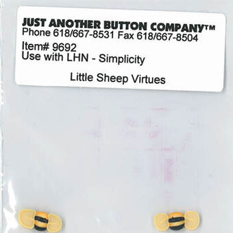 Buttons for Little Sheep Virtues Simplicity
