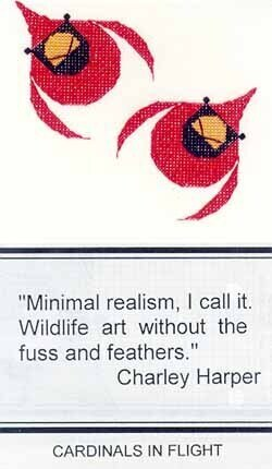 Cardinals In Flight (Harper) - Cross Stitch Pattern