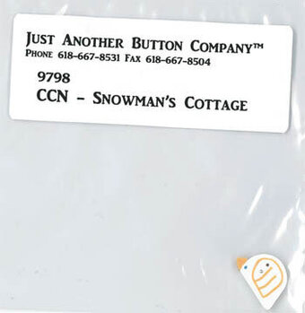 Snowman's Cottage - Button