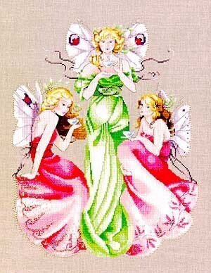 Three For Tea - Cross Stitch Pattern