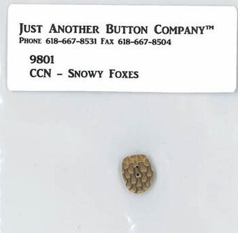Frosty Forest - Snowy Foxes  Button