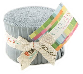 Moda Bella Solids Junior Jelly Roll - Silver