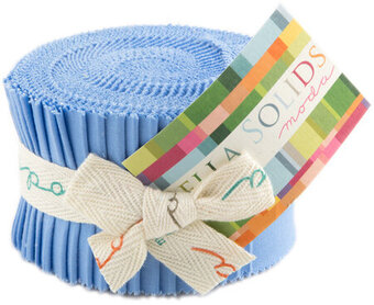 Moda Bella Solids Junior Jelly Roll - 30s Blue
