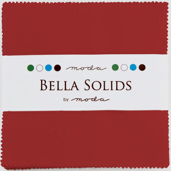 Moda Bella Solids Charm Pack - Christmas Red
