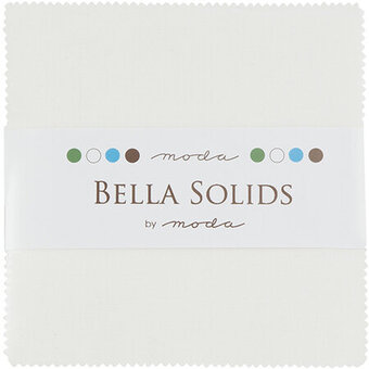 White Bleached Bella Solids Charm Pack